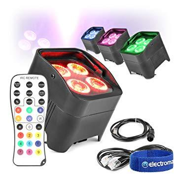 Projecteur LED Mini BOX sur batterie (lot de 4)