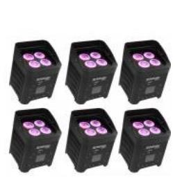 Projecteur batterie BOXKOLOR - Pack de 6